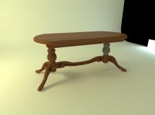 3Д стол дерево