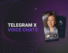Telegram X. Голосовой чат