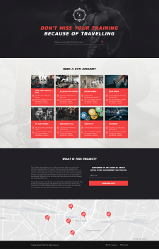 """Landing Page """"The Training Nomad"""""""