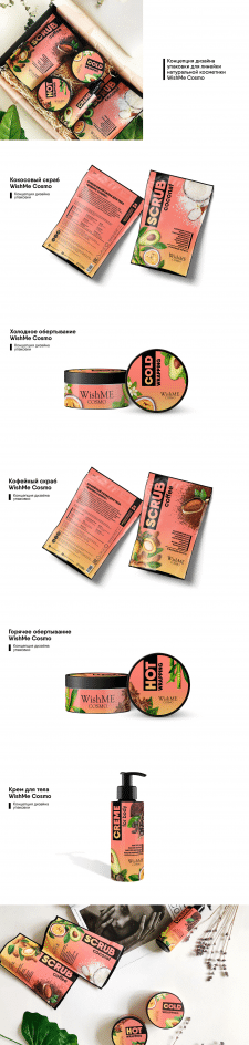Косметика WishMe Cosmo - Дизайн упаковки