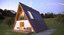 Visualisation of A-frame house