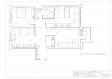 Планировочное решение 4-х. кв 100м2