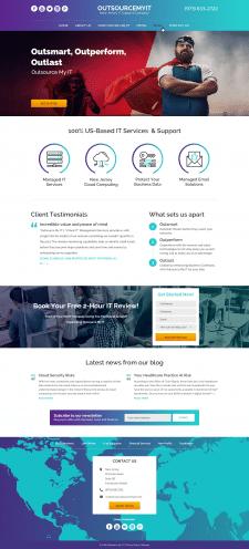 Дизайн сайт OutsourcemyIT