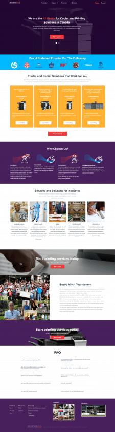 Сайт канадской фирмы business systems