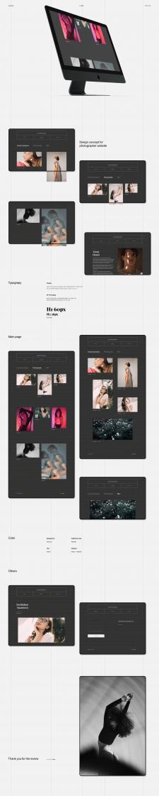 portfolio for the photographer