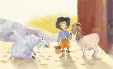 Иллюстрация к сказке про маленького фермера
