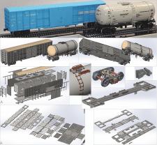 Масштабные модели вагонов Крюковского ВСЗ
