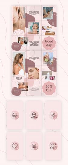 Оформление инстаграмм для салона красоты