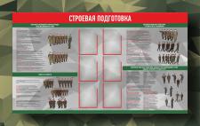 """Стенд для военных """"Строевая подготовка"""""""