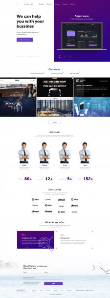 Дизайн сайта веб-студии по разработке сайтов
