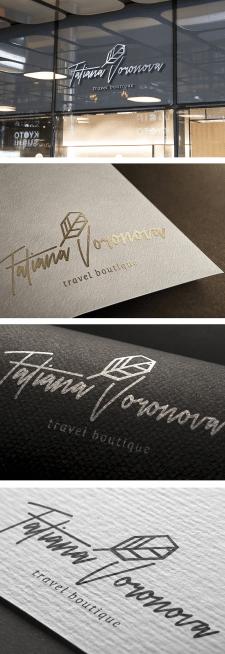 Лого для тревел бутика   T. Voronova