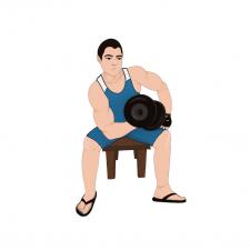 Персонаж спортсмен