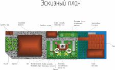 Эскизный план дачного участка в современном стиле