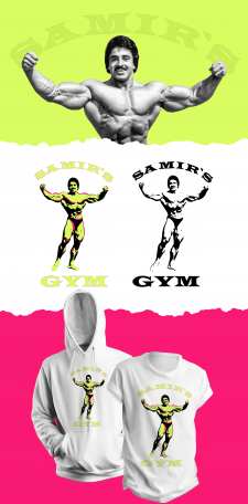Samir`s Gym logo + t-shirt design USA