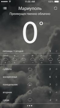 iOS приложение погоды