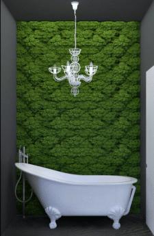 Ванна с элементами эко-стиля