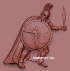 Гладиатор (барельеф для ЧПУ)