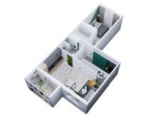 Перепланировка 2к квартиры для молодой пары
