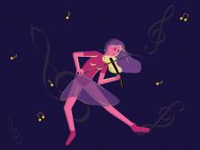 Деввочка-скрипачка