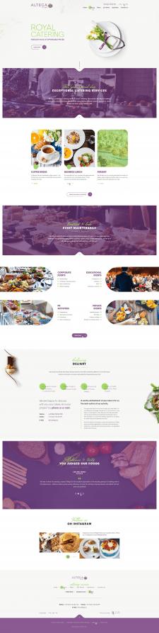 Дизайн сайта для кейтеринговой компании