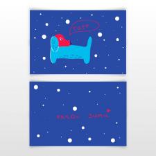 Дизайн новогодней листовки
