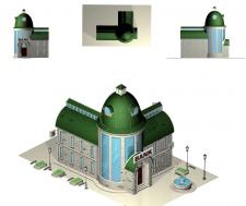 архитектурный скетч концепт здания для игры