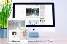 Дизайн лендинга и блога для фотографа