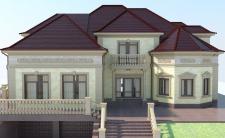 Фасад котеджа