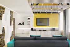 Дизайн интерьера двух-уровненной квартиры