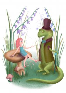 Детская иллюстрация к сказке