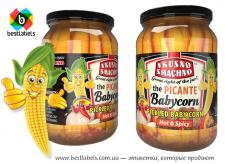 Дизайн этикеток маринованных овощей (кукурузка)