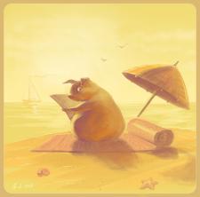 """Рисунок """"Хочется на море"""""""