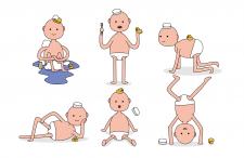 """Маскот колоды карт """"Baby boy and duck"""""""