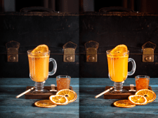 цветокоррекция фото напитков для ресторана