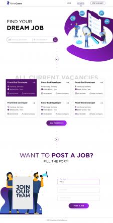 Главная страница для сайта поиска вакансий