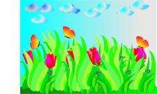 бабочки Иллюстратор