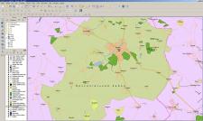 Карта Брусилівського району в середовищі QGIS