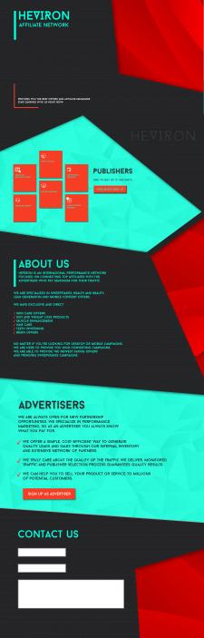 Сайт для CPA-маркетинговой компании Heviron