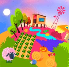 Иллюстрация ферма в Photoshop
