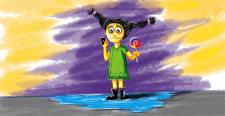 дівчинка в соцмережі