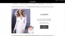 Верстка сайта fragrance.lancome