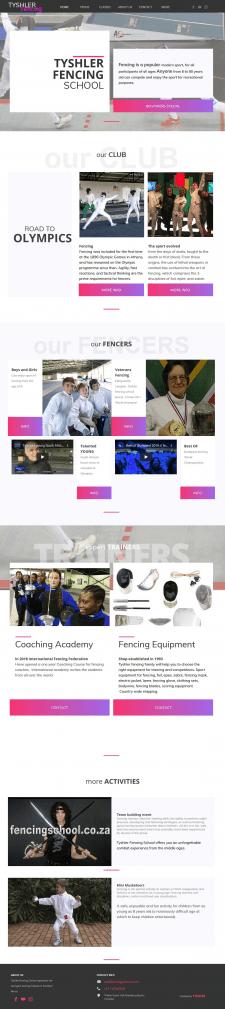 Сайт Fencingschool.co.za