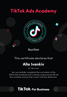 Сертификат TikTok Ads Academy