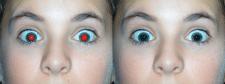 """коррекция """"красные глаза""""."""