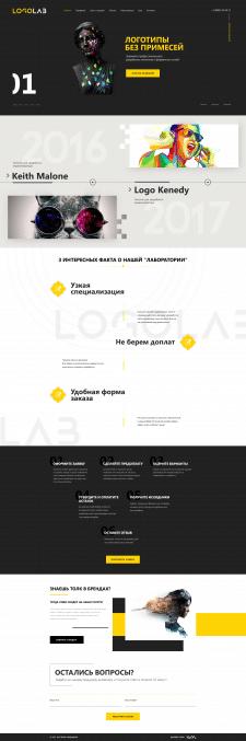 Дизайн сайта для дизайн компании LogoLab