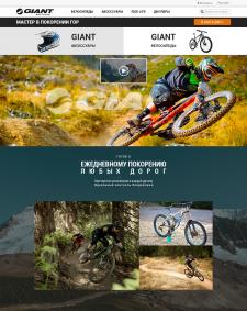 UI Dexign. Giant bicycles