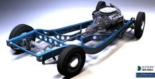 3D моделирование, ретро авто