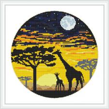 Giraffe cross stitch pattern