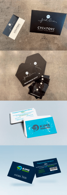 Business card, certificates