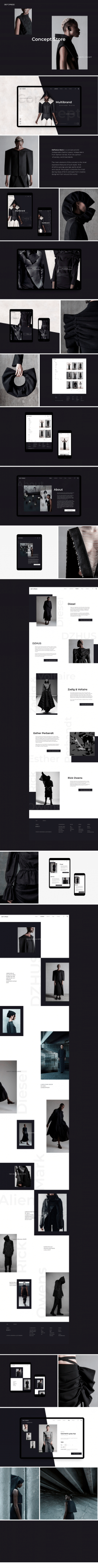 Дизайн сайта магазина концептуальной одежды